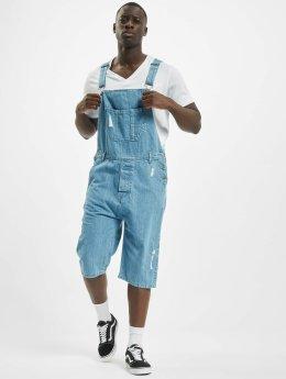Urban Classics jumpsuit Denim Dungarees blauw
