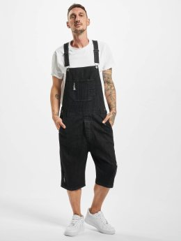 Urban Classics jumpsuit Denim zwart