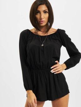 Urban Classics jumpsuit Short Longsleeve zwart