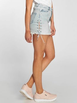 Urban Classics Jupe Lace Up Denim bleu