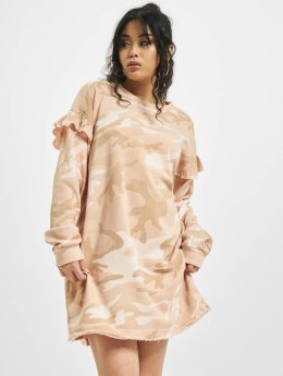 Urban Classics jurk Camo Volant camouflage