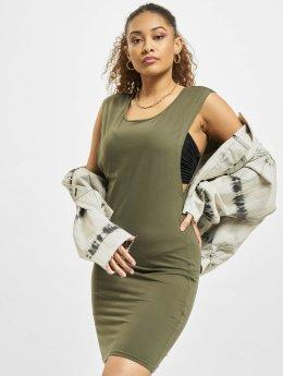 Urban Classics jurk Deep Armhole olijfgroen