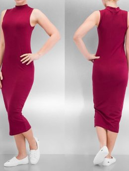 Urban Classics jurk Stretch Jersey Turtleneck rood