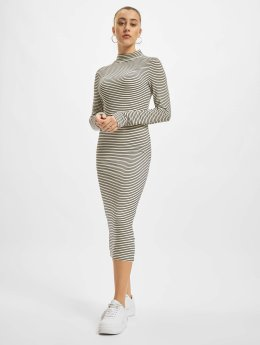 Urban Classics jurk Striped Turtleneck wit