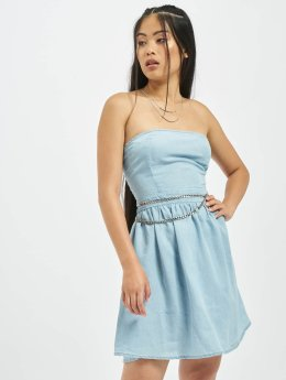 Urban Classics Frauen Kleid Bandeau in blau