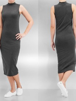 Urban Classics Kleid Ladies Stretch Jersey Turtleneck grau
