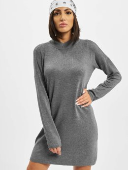 Urban Classics Kleid Oversized Turtleneck grau