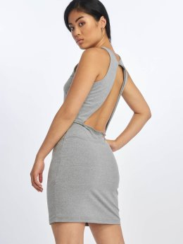 Urban Classics Kleid Back Cut Out grau