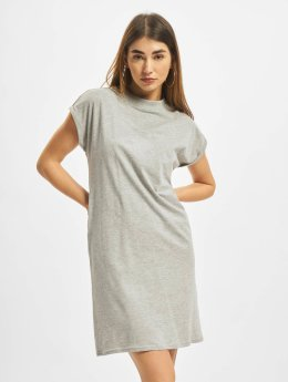 Urban Classics Kleid Turtle Extended Shoulder grau