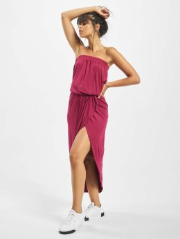 Urban Classics Kleid Ladies Viscose Bandeau rot