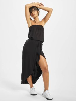 Urban Classics Kleid Ladies Viscose Bandeau schwarz