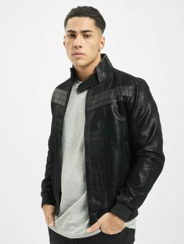 Urban Classics Leather Jacket Suede Imitation black