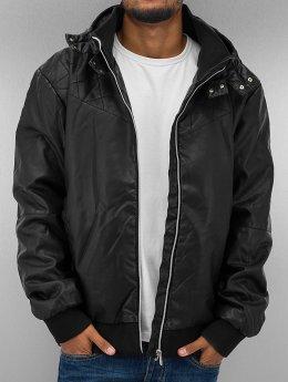 Urban Classics Lederjacke Leather Imitation schwarz
