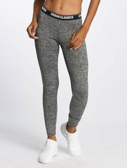 Urban Classics Legging Active Melange Logo grijs