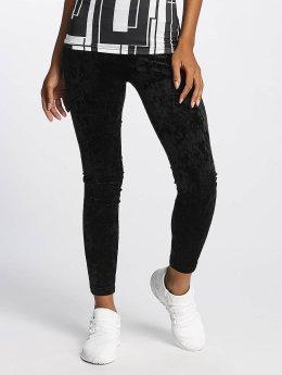 Urban Classics Legging Velvet schwarz