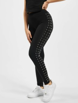 Urban Classics Legging Side Rivets zwart