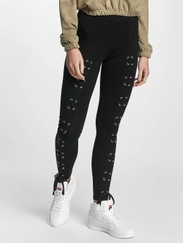 Urban Classics Legging Laced Up Front zwart