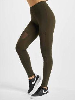 Urban Classics Leggings Tech Mesh oliva