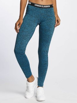 Urban Classics Leggings/Treggings Active Melange Logo turkis