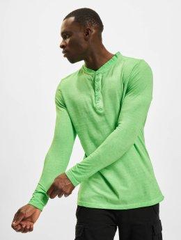 Urban Classics Longsleeve Spray Dye Henley grün