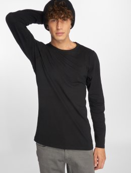 Urban Classics Longsleeves Fitted Stretch čern