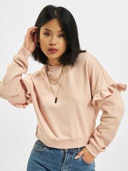 Urban Classics Maglia Oversize Volant rosa chiaro