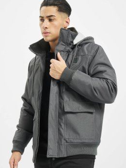 Urban Classics Manteau hiver Heavy Hooded gris