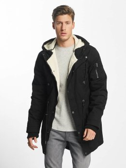 Urban Classics Manteau Canvas Cotton noir