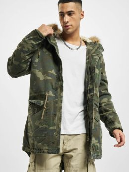 Urban Classics Mantel Garment Washed Camo camouflage