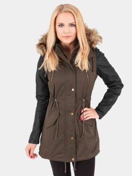 Urban Classics Mantel Leather Imitation olive