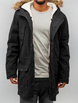 Urban Classics Mantel Sherpa Lined Cotton schwarz