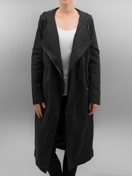 Urban Classics Mantel Ladies Peached Long Asymmetric schwarz