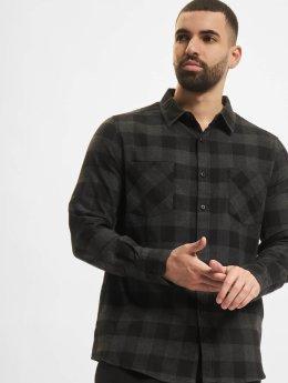 Urban Classics overhemd Checked Flanell grijs