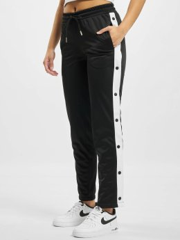 Urban Classics Pantalón deportivo Button Up negro
