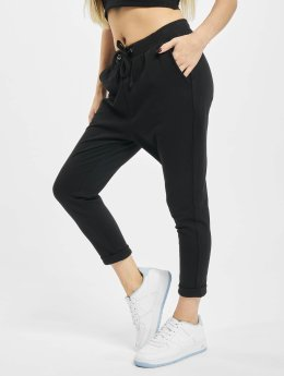 Urban Classics Pantalone ginnico Open Edge Terry Turn Up nero