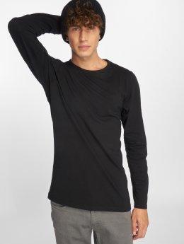 Urban Classics Pitkähihaiset paidat Fitted Stretch musta
