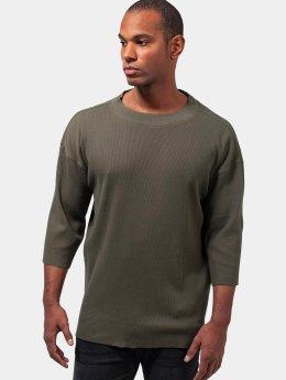 Urban Classics Pitkähihaiset paidat Thermal Boxy oliivi