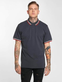 Urban Classics Polo Classics Double Stripe blu
