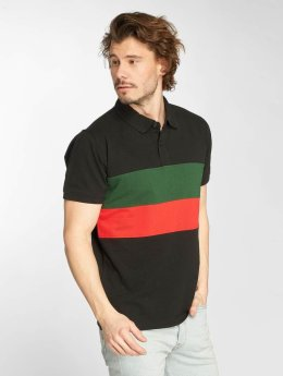 Urban Classics Polo Color Block Panel noir