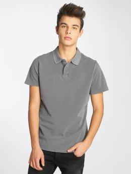 Urban Classics poloshirt Garment Dye Pique grijs