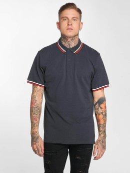 Urban Classics Poloshirts Classics Double Stripe blå