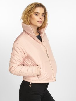 Urban Classics Puffer Jacket Oversized High Neck rosa
