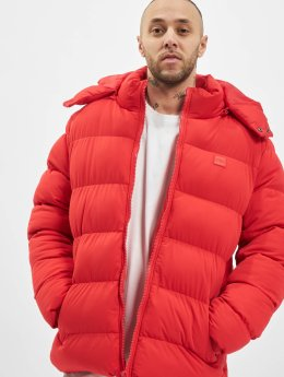 Urban Classics Männer Puffer Jacket Hooded Boxy Puffer in rot