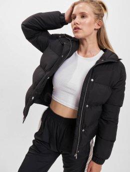 Urban Classics Frauen Puffer Jacket Hooded Puffer in schwarz