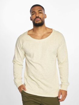 Urban Classics Pullover Long Open Edge Terry beige
