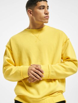 Urban Classics Männer Pullover Oversized Open Edge in gelb