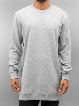 Urban Classics Pullover Long Light Fleece grau