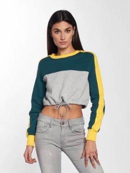 Urban Classics Pullover 3-Tone Stripe Cropped grau