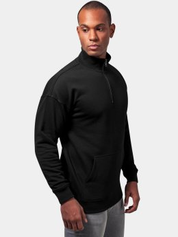 Urban Classics Männer Pullover Sweat Troyer in schwarz