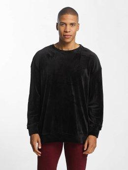 Urban Classics Pullover Velvet Oversized schwarz